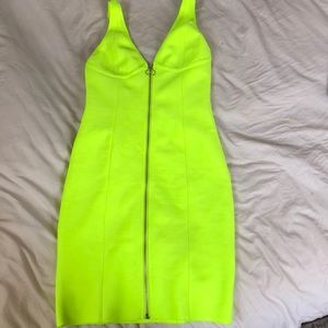 Brand New Lime Green Bodycon Mini Forever 21 Dress